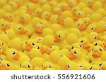 Yellow Toy Duck Floating In...