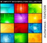 set of bright abstract... | Shutterstock .eps vector #55692208