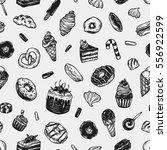 vector sweets. seamless pattern ... | Shutterstock .eps vector #556922599