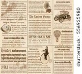 old newspaper british... | Shutterstock .eps vector #556925980