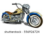 classic vintage motorcycle. | Shutterstock .eps vector #556926724