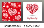 set of seamless patterns and... | Shutterstock .eps vector #556927150