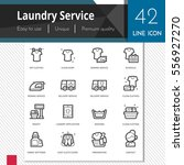 laundry service elements vector ... | Shutterstock .eps vector #556927270