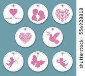 set of labels for valentine's... | Shutterstock .eps vector #556928818