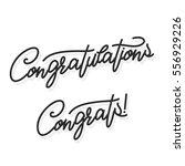 congratulations. hand lettering ... | Shutterstock .eps vector #556929226