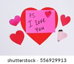 valentine's day concept with... | Shutterstock . vector #556929913