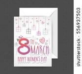 happy women's day celebration... | Shutterstock .eps vector #556937503