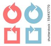 color arrows flat design set...