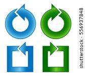 color arrows shiny design set...