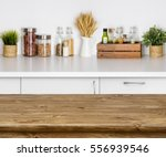 wooden texture table with bokeh ... | Shutterstock . vector #556939546