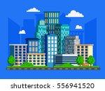 vector illustration with... | Shutterstock .eps vector #556941520
