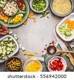 healthy vegetarian dish... | Shutterstock . vector #556942000