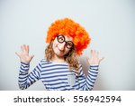 little girl clown | Shutterstock . vector #556942594
