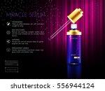skin facial serum toner cream... | Shutterstock .eps vector #556944124