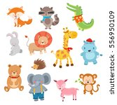 cute cartoon animal collection | Shutterstock .eps vector #556950109