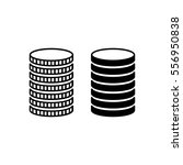 stack of coins. piled metal... | Shutterstock .eps vector #556950838