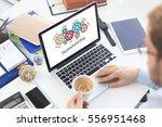 gears and brainstorming... | Shutterstock . vector #556951468