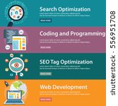 seo and development concept ... | Shutterstock .eps vector #556951708