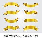 golden ribbon banners.set of... | Shutterstock .eps vector #556952854