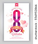 creative text 8 march with... | Shutterstock .eps vector #556952866