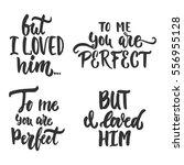 set of hand drawn saint... | Shutterstock .eps vector #556955128