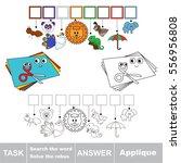 educational rebus game for... | Shutterstock .eps vector #556956808