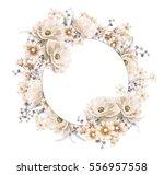 card  watercolor wedding... | Shutterstock . vector #556957558