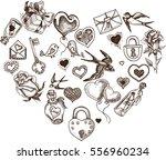 vector illustration sketch hand ... | Shutterstock .eps vector #556960234