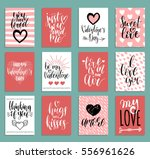 Stock vector vector valentine s day cards templates hand drawn february gift tags labels or posters 556961626