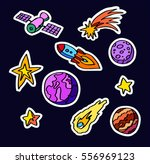 cosmic patches  cartoon hand... | Shutterstock .eps vector #556969123