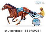 jockey and horse. champion.... | Shutterstock .eps vector #556969354