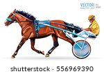 jockey and horse. champion.... | Shutterstock .eps vector #556969390
