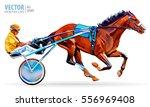 jockey and horse. champion.... | Shutterstock .eps vector #556969408