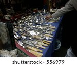 silverware on sale on the... | Shutterstock . vector #556979