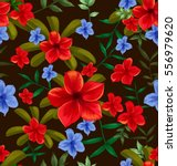 illustration of floral seamless ... | Shutterstock .eps vector #556979620