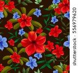 illustration of floral seamless ... | Shutterstock .eps vector #556979620