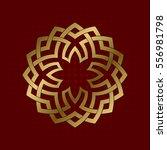 sacred geometric symbol of... | Shutterstock .eps vector #556981798