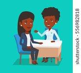 african american doctor... | Shutterstock .eps vector #556982818