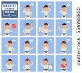big set of martial artist... | Shutterstock .eps vector #556983820