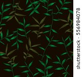 illustration of leaf pattern | Shutterstock .eps vector #556984078