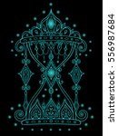 doodle antique hourglass... | Shutterstock .eps vector #556987684