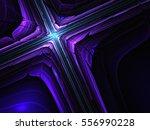 Dark Violet Fractal Cross ...