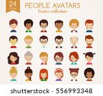 set of cute avatars. male and...