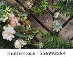 botanic bridal chic. bouquet... | Shutterstock . vector #556993384