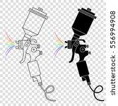 spray gun. vector silhouettes... | Shutterstock .eps vector #556994908