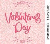 happy valentine's day. stylized ... | Shutterstock .eps vector #556997284