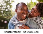 Smiling Young Black Couple...