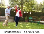 senior black couple dance in... | Shutterstock . vector #557001736