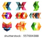 vector colorful business... | Shutterstock .eps vector #557004388