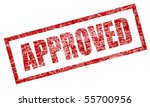 grungy approved stamp | Shutterstock .eps vector #55700956